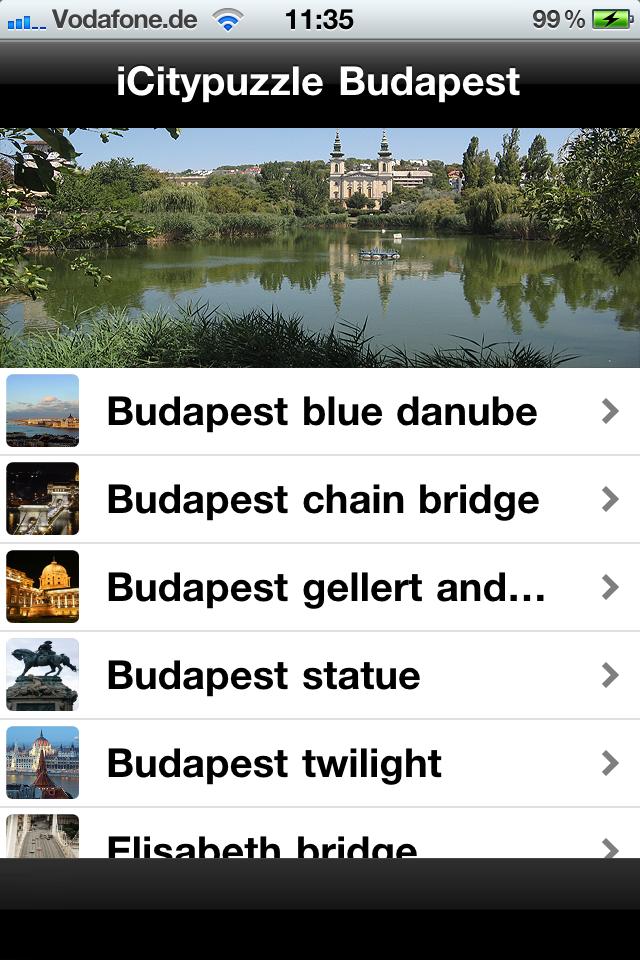 Screenshot iCitypuzzle Budapest